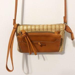 Woven crossbody purse